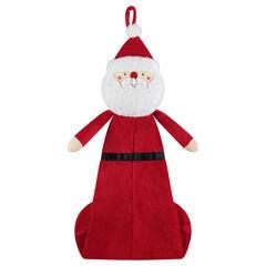 Funda de pijama de terciopelo con forma de Papá Noel