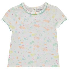 Camiseta de manga corta con estampado de peces all over