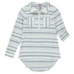 Junior - Camisa larga de rayas fantasía