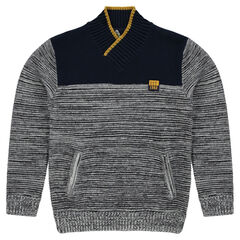 Jersey de punto mezclado con bolsillos