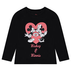 Camiseta de manga larga de punto ©Disney con estampado de Mickey y Minnie
