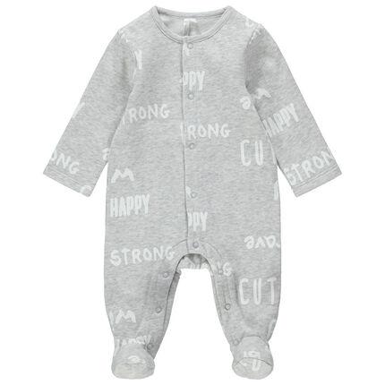 Pijama de felpa cepillada