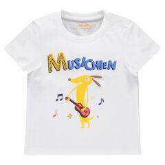 Camiseta de manga corta con estampado de fantasía
