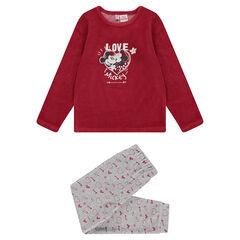 Pijama de terciopelo con estampado de Mickey y Minnie