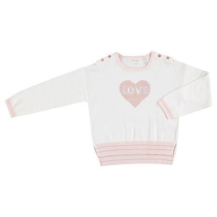 Jersey de punto con corazones de lentejuelas mágicas