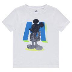 Camiseta de punto liso con estampado de Mickey