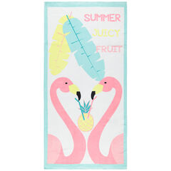 Serviette de plage motif flamants roses