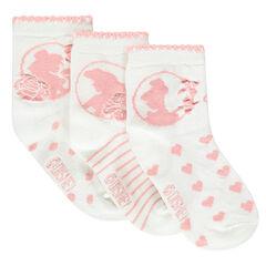 Juego de 3 pares de calcetines de princesas Disney