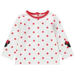 Camiseta de manga larga con lunares all over y estampados de Minnie