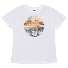 Camiseta de manga corta de punto con estampado gráfico