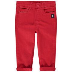 Pantalón rojo con aplicaciones Mickey Disney