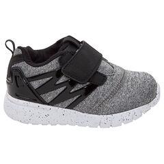 Zapatillas deportivas bajas con velcros y aplicaciones de charol del 24 al 29