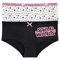 Júnior - Juego de 2 culottes con inscripción de Star Wars™ y estrellas