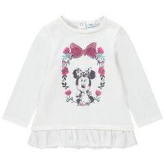 Sudadera de felpa de fantasía con volante de tul y estampado Minnie Disney