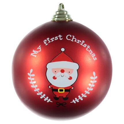 Boules pour sapin de Noel print Père Noel et élan