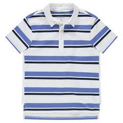 Júnior - Polo de manga corta con rayas que contrastan