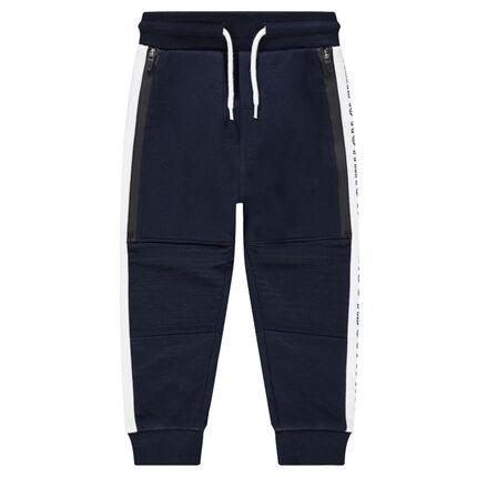 Pantalón de chándal con tiro bajo y bandas que contrastan