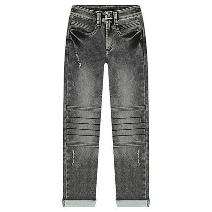 Júnior - Vaqueros estilo denim con cortes en las rodillas