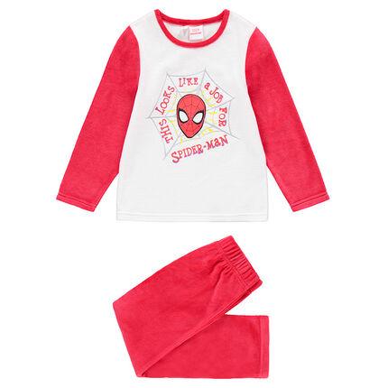 Pijama de terciopelo bicolor con estampado ©Marvel Spiderman