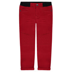 Pantalón de tela de imitación de felpa y cintura elástica