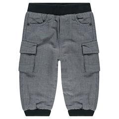 Pantalón de felpa con bolsillos con forro de micropolar