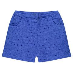 Pantalón corto con bordados ingleses