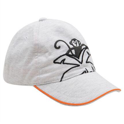 Gorra elástica de punto con mono estampado