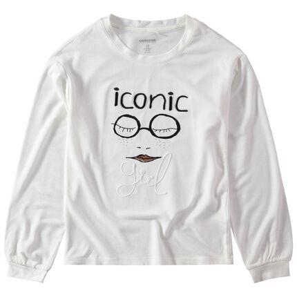 Júnior - Camiseta de manga larga de punto con dibujo estampado