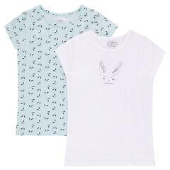 Conjunto de 2 camisetas con estampado