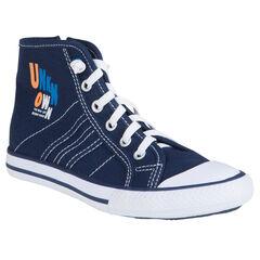 Zapatillas de deporte de caña alta de tela con motivos estampados
