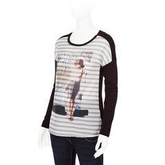 Camiseta de manga larga de premamá con estampado