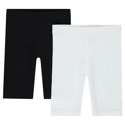 Júnior - Pack de 2 pantalones de ciclista lisos