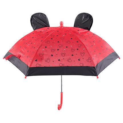 Paraguas con dibujos de Mickey y orejas de relieve