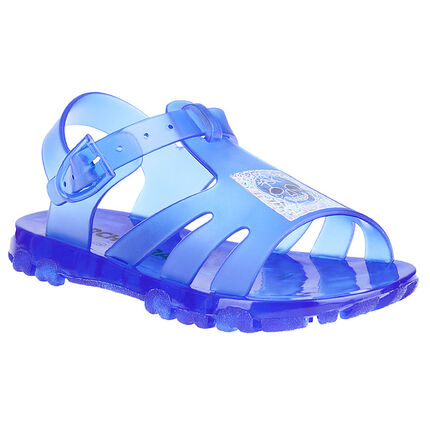 Zapatos de playa de plástico con calavera estampada