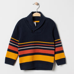 Pull en tricot à rayures et col châle , Orchestra