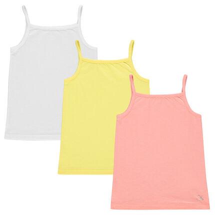 Pack de 3 camisetas de colores lisos