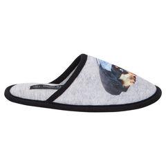 Patucos con forma de pantufla y estampado de perro