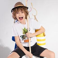 Júnior - Camiseta de manga corta de punto con piña estampada