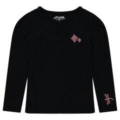 Camiseta de manga larga de algodón con estampado de fantasía