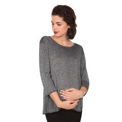 Jersey de premamá de lúrex con espalda cruzada