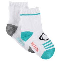Juego de 2 pares de calcetines variados con animales de jacquard