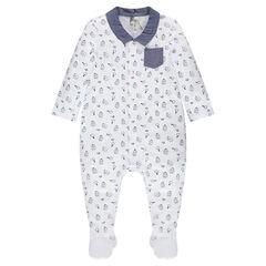 Pijama de punto con personajes estampados all over