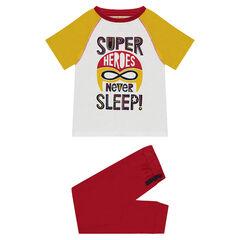 Pijama de punto con estampado de superhéroe