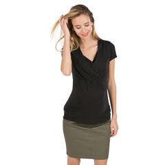 Camiseta de manga corta de premamá y lactancia , Prémaman