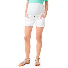 Pantalón corto de embarazo vaquero con banda alta