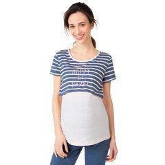 Camiseta homewear de embarazo y lactancia 2 en 1