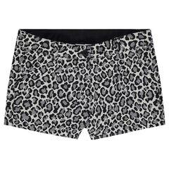 Júnior - Pantalón corto de jacquard con estampado de leopardo all over