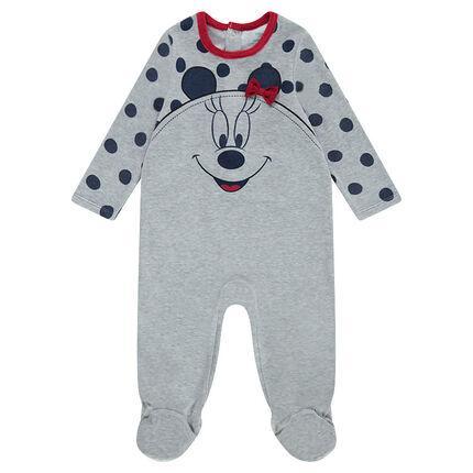Pijama de punto con lunares y estampado ©Disney Minnie