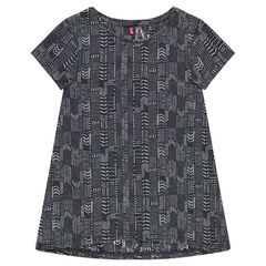 Júnior- Camiseta de manga corta con estampado étnico