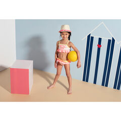 Bikini con volantes y Minnie bordada ©Disney
